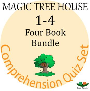 Magic Tree House - Books 1-4 Comprehension Quiz Set