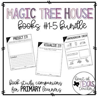 Magic Tree House Books #1-5 Bundle (Book Study Companions for K/1/2)