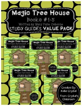 Magic Tree House Books #1-5 Study Guides VALUE PACK