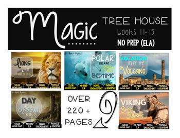 Magic Tree House Books 11-15 NO PREP (ELA) BUNDLE