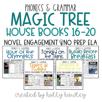 Magic Tree House Books 16-20 NO PREP (ELA) BUNDLE