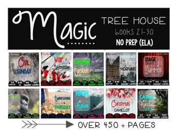 Magic Tree House Books 21-30 Bundle NO PREP (ELA)