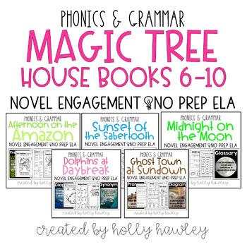 Magic Tree House Books 6-10 Bundle NO PREP (ELA)