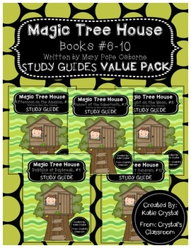 Magic Tree House Books #6-10 Study Guides Value Pack