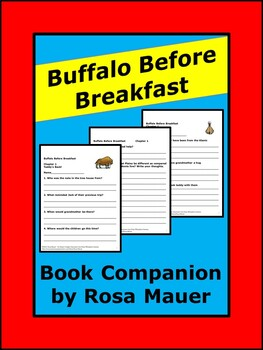 Magic Tree House Buffalo Before Breakfast Book Unit