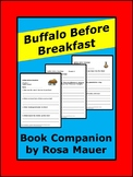 Buffalo Before Breakfast Novel Study