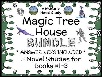 Magic Tree House BUNDLE (Osborne) 3 Novel Studies for Books #1-3   (69 pages)
