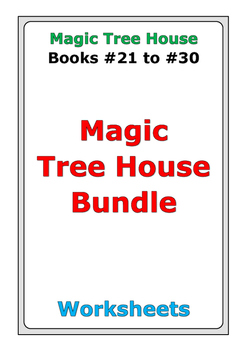 Magic Tree House Bundle: Books #21 to #30