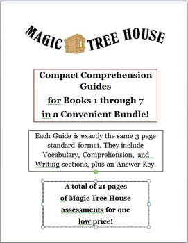 Magic Tree House Bundle -- CCGs for Books 1 to 7