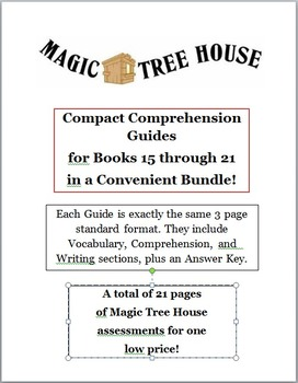 Magic Tree House Bundle -- CCGs for Books 15 to 21
