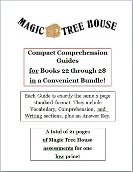Magic Tree House Bundle -- CCGs for Books 21 to 28