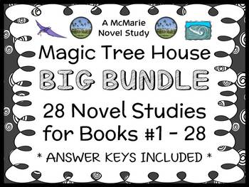 Magic Tree House BUNDLE (Osborne) 28 Novel Studies : Books #1-28 (767 pages)