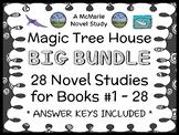 Magic Tree House BIG BUNDLE (Osborne) 28 Novel Studies : Books #1-28 (730 pages)