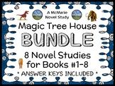 Magic Tree House BUNDLE (Mary Pope Osborne) 8 Novel Studies: Books #1-8 (208 pg)
