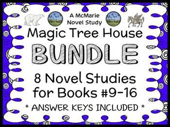 Magic Tree House Bundle (Mary Pope Osborne) 8 Novel Studies : Books 9 - 16
