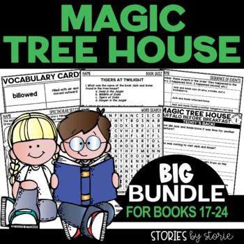 Magic Tree House Bundle (Questions & Activities for Books 17-24)