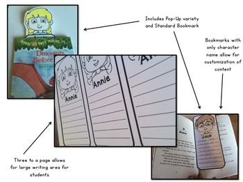 Magic Tree House Character Bookmarks