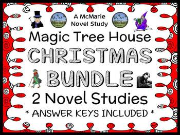 Magic Tree House Christmas BUNDLE : 2 Novel Studies / Comprehension (75 pages)