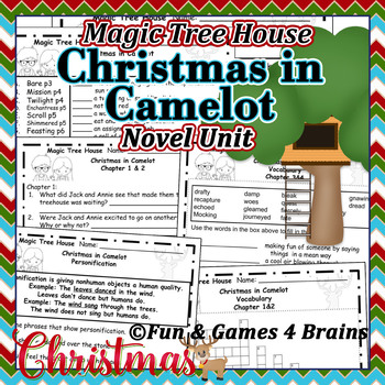 Magic Tree House - Christmas in Camelot  Novel Unit