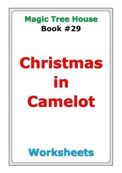 """Magic Tree House """"Christmas in Camelot"""" worksheets"""