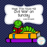 Magic Tree House - Civil War on Sunday literature unit