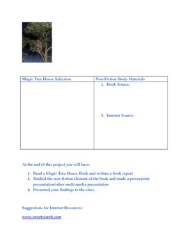 Magic Tree House Common Core Project