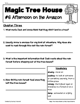Magic Tree House Companion Pack {Afternoon on the Amazon #6}