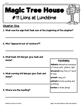 Magic Tree House Companion Pack {Lions at Lunchtime #11}