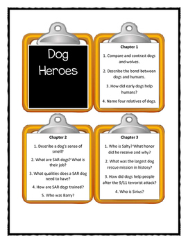 Magic Tree House DOG HEROES Fact Tracker - Discussion Cards