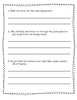 Magic Tree House Day of the Dragon King Chapter Questions