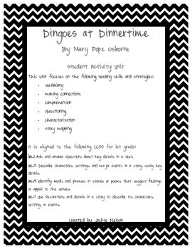 Magic Tree House Dingoes at Dinnertime Student Activity Unit