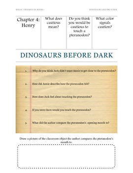 Magic Tree House Dinosaurs Before Dark Study Guide