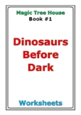 "Magic Tree House ""Dinosaurs Before Dark"" worksheets"