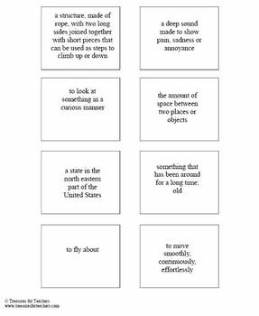 Magic Tree House Dinosaurs Before Dawn - Mini Vocabulary Cards