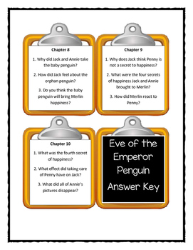Magic Tree House EVE OF THE EMPEROR PENGUINS - Discussion Cards