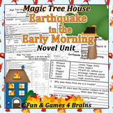 Magic Tree House - Earthquake in the Early Morning Novel Unit