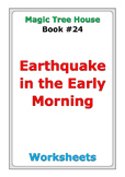"Magic Tree House ""Earthquake in the Early Morning"" worksheets"