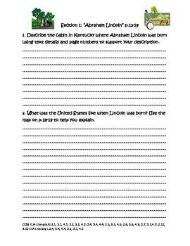 Magic Tree House Fact Tracker Abraham Lincoln Common Core Reading Unit