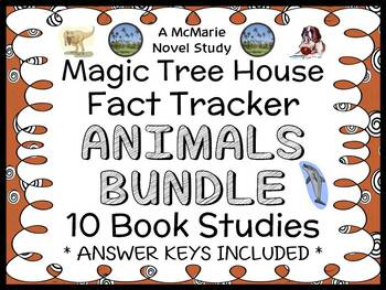 Magic Tree House Fact Tracker BUNDLE : Animals 10 Book Studies / Comprehension