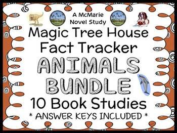 Magic Tree House Fact Tracker BUNDLE : Animals 10 Book Stu