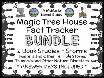 Magic Tree House Fact Tracker BUNDLE : Storms - 2 Book Studies / Comprehension