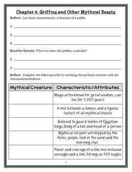 Magic Tree House Fact Tracker: Dragons and Mythical Creatures Book Study