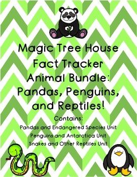 Magic Tree House Fact Tracker Penguins Pandas and Snakes R