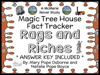 Magic Tree House Fact Tracker: Rags and Riches Book Study / Comprehension