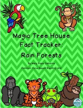 Magic Tree House Fact Tracker Rain Forests Reading Unit