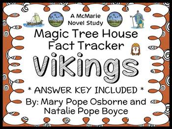 Magic Tree House Fact Tracker: Vikings (Osborne) Book Study / Comprehension