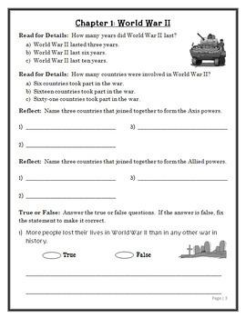 Magic Tree House Fact Tracker: World War II (Osborne) Book Study  (23 pages)
