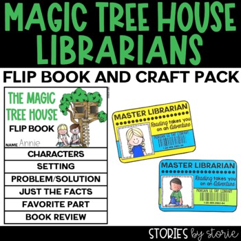 Magic Tree House Flip Book and Library Card Craftivity