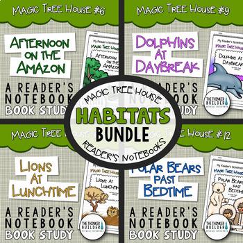"Magic Tree House ""HABITATS"" Bundle {4 Book Studies}"