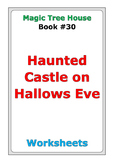 """Magic Tree House """"Haunted Castle on Hallows Eve"""" worksheets"""